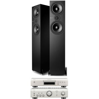 Denon PMA-600 NE Silver+DCD-600 Silver+Cambridge Audio SX-80 Matt Black Conjunto Audio