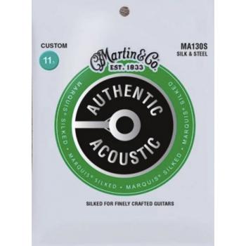 Martin MA130S Cuerdas Guitarra Acústica Authentic Silked Bronze 80/20 Light 11-47