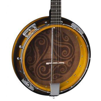 Luna Guitars Celtic 5-String Banjo Tobacco Burst