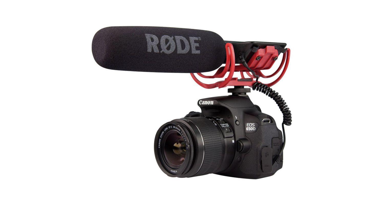 Rode VideoMic ligero escopeta en la Cámara Go Micrófono Con Suspensión Rycote