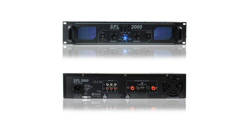 Skytec 178799 DJ Power Amplifier 2000 Watt