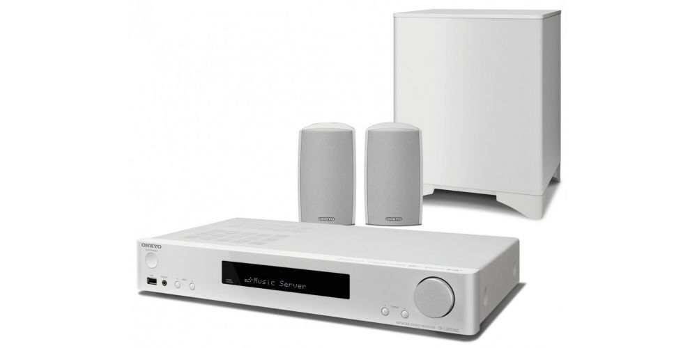 onkyo ls5200 white conjunto home cinema white 2 1