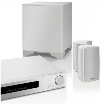 ONKYO LS-5200 White Sistema Home Cinema 2.1 con Altavoces, Negro