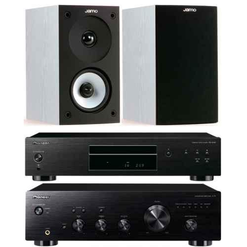 pioneer a10k black amplificador estereo pd10ae bk jamo s622 whitw
