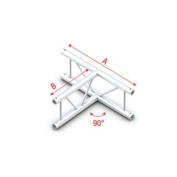 Showtec T-Cross vertical Cruceta en T Vertical Para Truss FS30017V