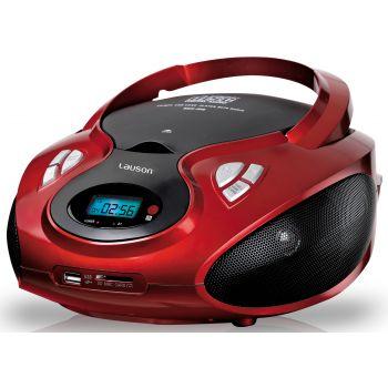 Lauson CP439 Radio CD USB Bluetooth Rojo