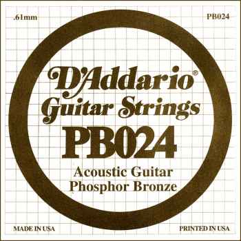 D´addario PB024 Cuerda Suelta para Guitarra Acústica