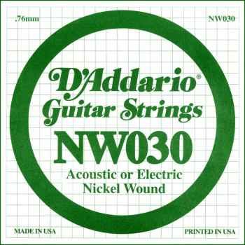 D´addario NW030 Cuerda Suelta para Guitarra Eléctrica