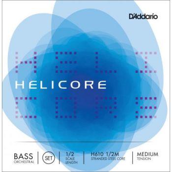 D´addario H610 Set Cuerdas Helicore Orquestral para Contrabajo 1/2 Tensión Fuerte