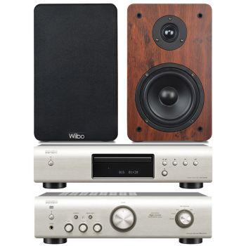 Equipo HiFi Amplificador DENON PMA-520 S + CD DCD-520S + Altavoces estantería Wiibo Karino 200