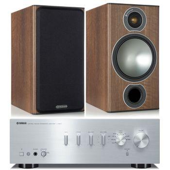 Yamaha AS301 Silver+Monitor Audio Bronze 2 Cherry Conjunto Audio