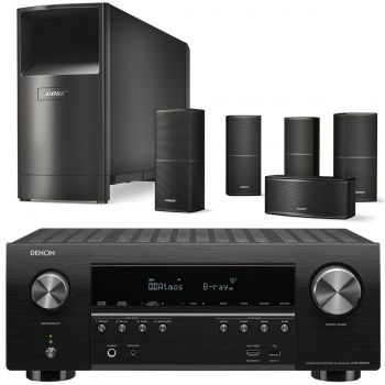 Denon AVR-S950+Bose AM10V Black Cinema Pack 5.1 Conjunto AV