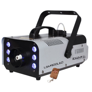 Ibiza Light LSM-900 LED Maquina de Humo Con DMX 6 LED RGB 900W