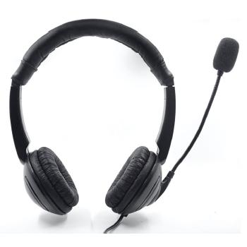 Hermecury UH1 Auriculares Pc USB con Micrófono para Teletrabajo