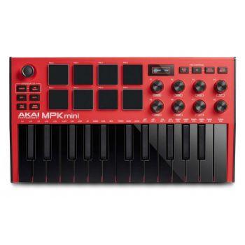 AKAI MPK MINI MK3 Red Teclado Controlador Midi con Software MPC Beats