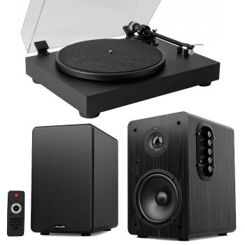Equipo HiFi Giradiscos Fonestar VINYL 13 + Altavoces Estantería Bluetooth Audibax Beta 1BT