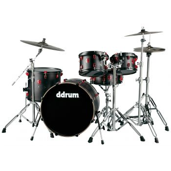 Ddrum Hybrid 5 Kit Satin Black. Set Batería Acústica