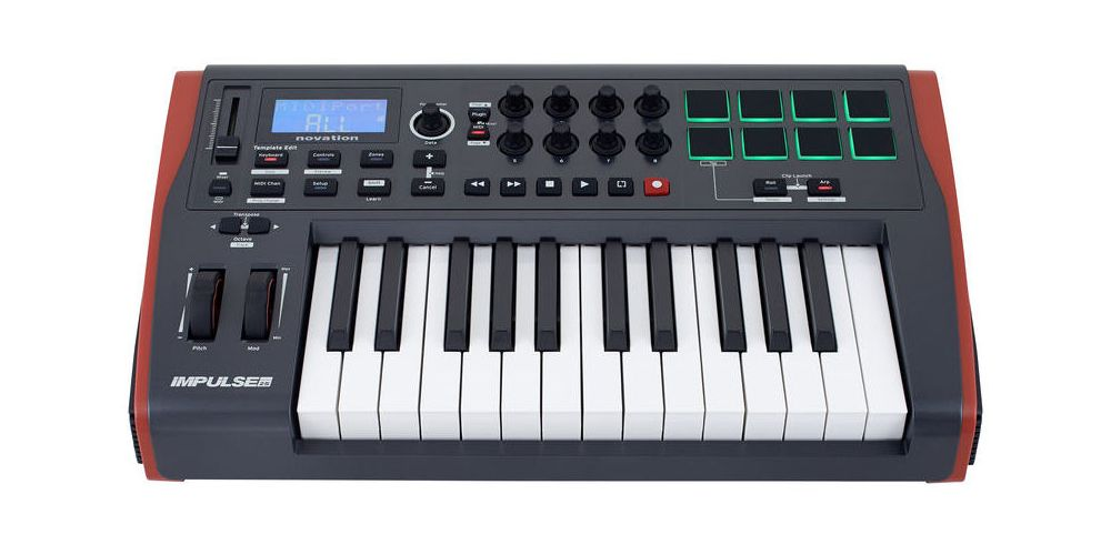 novation impulse 25 teclado