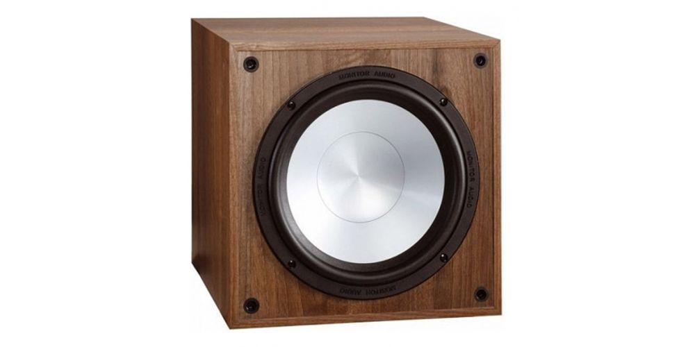 monitor audio mrw10 walnut subwoofer