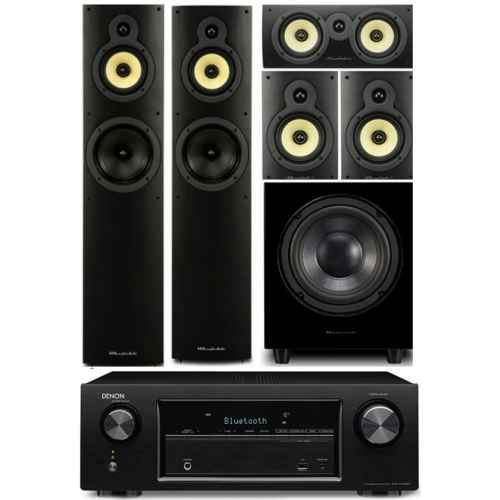 denon avrx520 wharfedale system 4 conjunto home cinema subwoofer WHD8