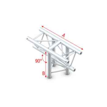 Showtec T-Cross vertical 3-way apex down Cruce de Truss Triangular DT22018