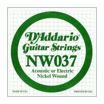 D´addario NW037 Cuerda Suelta para Guitarra Eléctrica