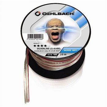 Oehlbach Silver Speaker Cable 2x2,50mm 20 metros Clear