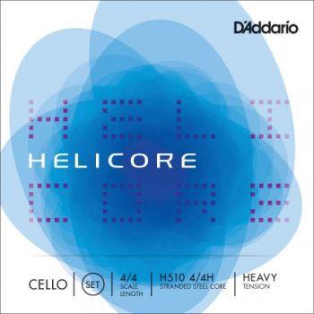 D´addario H510 Set de cuerdas para violonchelo 4/4 Helicore, tensión fuerte