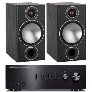 YAMAHA AS501BK+Monitor Audio Bronze 2 black Conjunto Audio