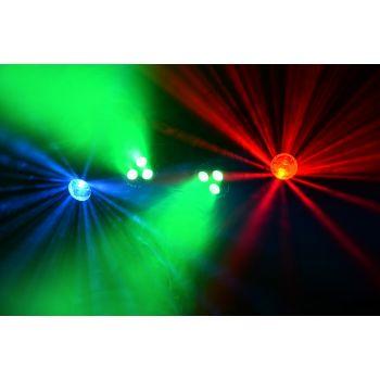 max PartyBar08 Set de Iluminacion con Bateria, 2 Focos Par y 2 Focos Jelly Moon 153004