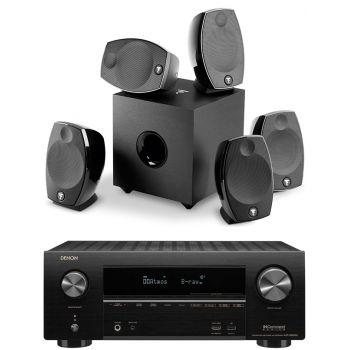 Denon Equipo AV AVR-X2600 +Focal Sib Evo 5.1 Conjunto Home Cinema