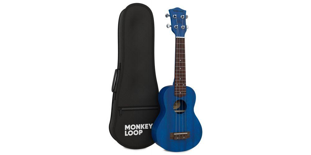 monkey loop stone mb ukelele soprano midnight blue bag