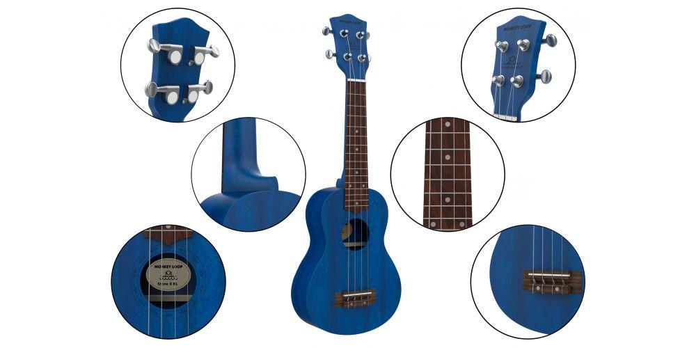 monkey loop stone mb ukelele soprano midnight blue details