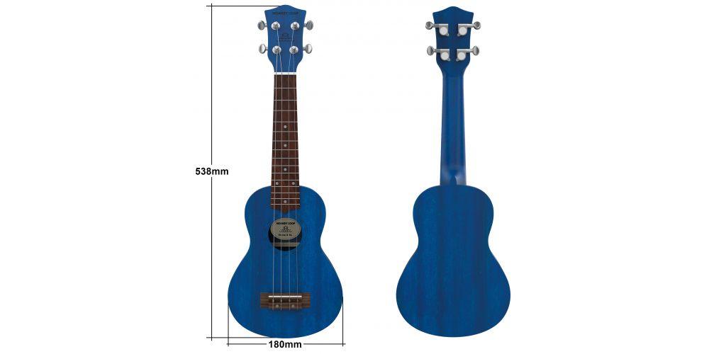 monkey loop stone mb ukelele soprano midnight blue size