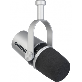 SHURE MV7-S Micrófono vocal XLR/USB Silver