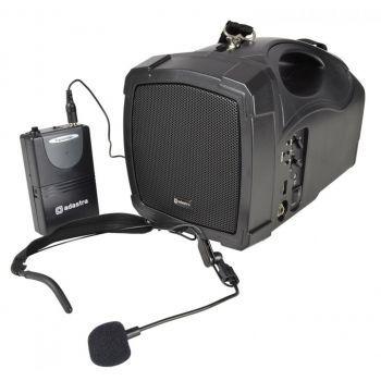 ADASTRA H25B Equipo Portátil con Batería, Micrófono, USB, FM y Bluetooth