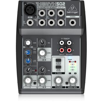 Behringer Xenyx-502 Mezclador de 5 canales para Estudio Directo