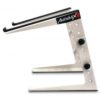 Soporte Ordenador portátil cabina Dj / estudio, Laptop Dj Stand MH-001 PRO BLANCO Audibax