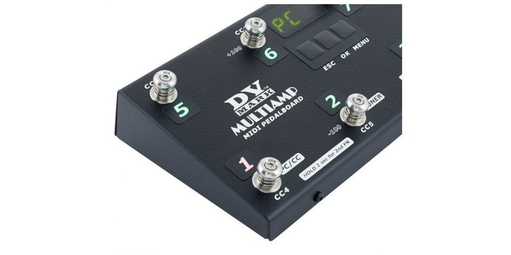 dv mark multiamp midi pedalboard push