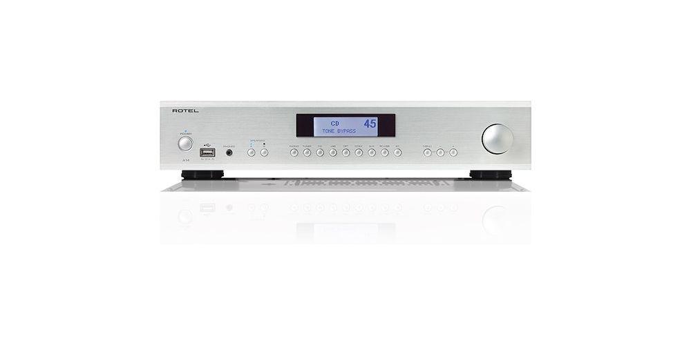 rotel a14 silver amplificador 80w