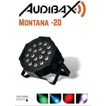 Audibax MONTANA 20 Foco Par 18 Led. Conexión DMX
