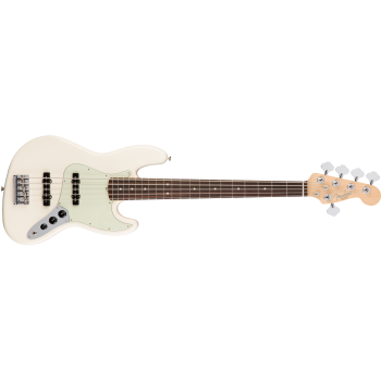 Fender American Pro Jazz Bass V Rosewood Fingerboard Olympic White