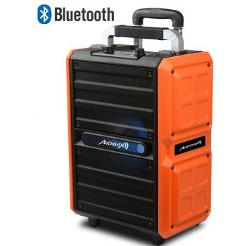 Audibax Combo PORT10-VHF Orange 150W Altavoz Trolley Bluetooth con Batería + Micrófono inalambrico ( REACONDICIONADO )