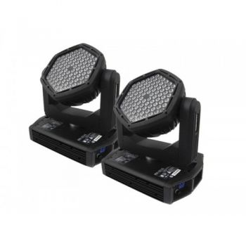 Quarkpro SET 2 CABEZA MOVIL LED MX-ZEUS + RACK