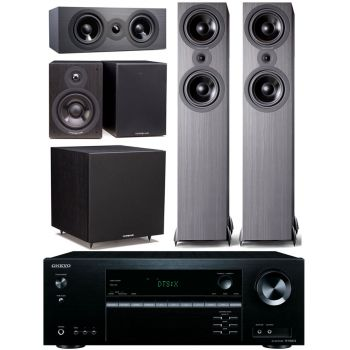 ONKYO TX-NR474+Cambridge SX80 CINEMA PACK 5.1 Bk Conjunto Home Cinema