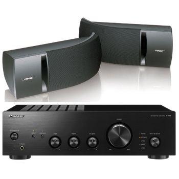 Pioneer A-10AEK+Bose161 Black Conjunto audio