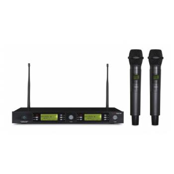 Fonestar MSH-895-631 Micrófono Inalámbrico Doble de Mano UHF