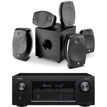 Denon AVR-X2400+Focal Sib Evo 5.1 Dolby Athmos Conjunto Home Cinema