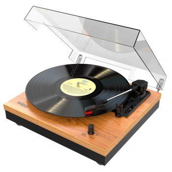 Wiibo Mustang 1965-BT Tocadiscos Vintage Bluetooth con Altavoces incorporados