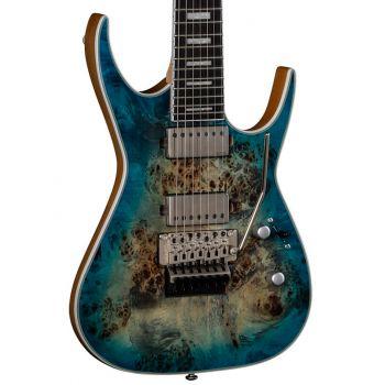 Dean Guitars Exile Select Floyd 7 St Burl Poplar Satin Turquoise Burst. Guitarra Eléctrica de 7 Cuerdas
